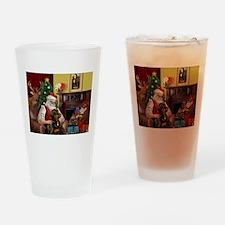 Santa's Rottweiler Drinking Glass