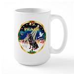 XmasSunrise/Rottweiler Large Mug