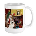Santa's Samoyed Large Mug
