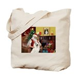 Santa's Samoyed Tote Bag