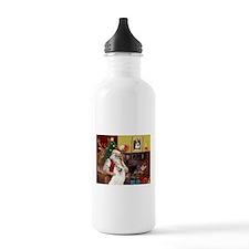 Santa's Samoyed Water Bottle