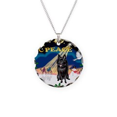 XmasSunrise/Schipperke Necklace