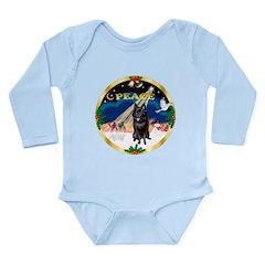 XmasSunrise/Schipperke Long Sleeve Infant Bodysuit