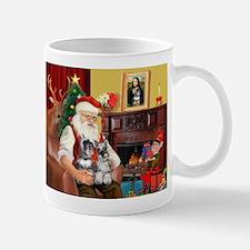 Santa's 2 Schnauzers Mug