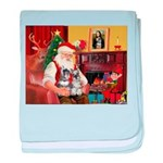 Santa's 2 Schnauzers baby blanket