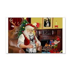 Santa's Mini Schnauzer 22x14 Wall Peel