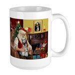 Santa's Mini Schnauzer Large Mug