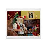 Santa's Mini Schnauzer Throw Blanket