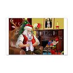 Santa's Schnauzer (9) 22x14 Wall Peel