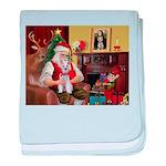 Santa's Schnauzer (9) baby blanket