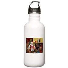 Santa's Schnauzer (9) Water Bottle