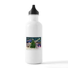 XmasMagic/Schnauzer (W) Water Bottle