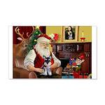 Santa's Schnauzer pup 22x14 Wall Peel