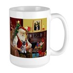 Santa's Schnauzer pup Large Mug