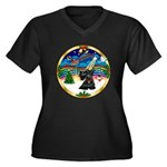 XmasMusic 3/Scottie #12 Women's Plus Size V-Neck D