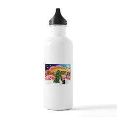 Xmas Music #2 / 2 Shelties (d Water Bottle
