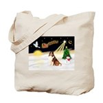 Night Flight/Sheltie Tote Bag