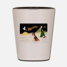 Night Flight/Sheltie Shot Glass