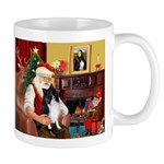 Santa's Bi Black Sheltie Mug