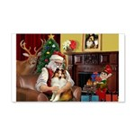 Santa's Sheltie (SW) 22x14 Wall Peel