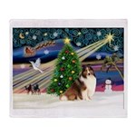 XmasMagic/Sheltie (7R) Throw Blanket