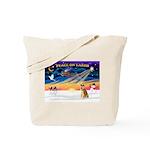 XmasSunrise/Shiba Inu Tote Bag