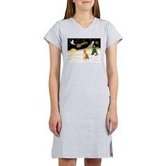 Night Flight/Shiba Inu Women's Nightshirt