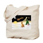 Night Flight/Shiba Inu Tote Bag