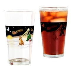 Night Flight/Shiba Inu Drinking Glass