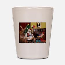 Santa's Shih Tzu (#1) Shot Glass