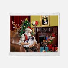 Santa's Shih Tzu (#1) Throw Blanket