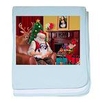 Santa's Shih Tzu (#1) baby blanket