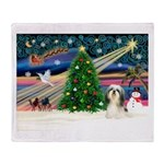 XmasMagic/Shih Tzu (#3) Throw Blanket