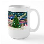 XmasMagic/Shih Tzu pup Large Mug