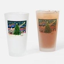 XmasMagic/Shih Tzu pup Drinking Glass