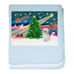 XmasMagic/Shih Tzu (P) baby blanket