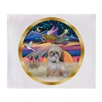 XmasStar/Shih Tzu Throw Blanket