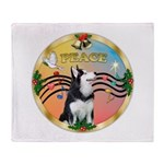 XmasMusic 3/Sib Husky Throw Blanket
