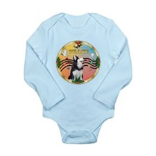 XmasMusic 3/Sib Husky Long Sleeve Infant Bodysuit
