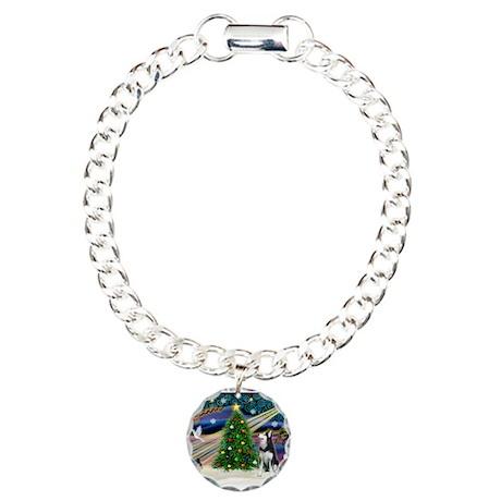 XmasMagic/Siberian Husky Charm Bracelet, One Charm