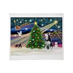 XmasMagic/Siberian Husky Throw Blanket