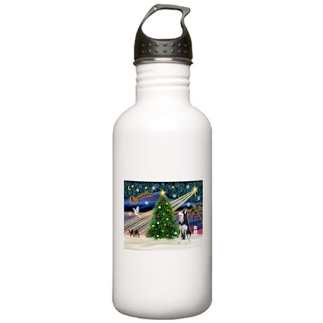 XmasMagic/Siberian Husky Stainless Water Bottle 1.