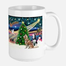 Xmas Magic & S Husky Mug