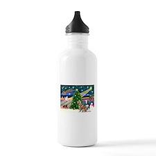 Xmas Magic & S Husky Water Bottle