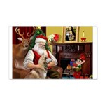 Santa's Red Husky 22x14 Wall Peel