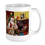 Santa's Red Husky Large Mug
