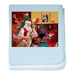 Santa's Red Husky baby blanket