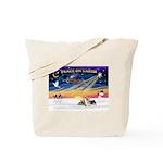 XmasSunrise/2 Silky Ter Tote Bag