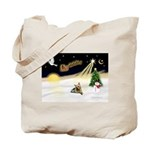 Night Flight/ Silky Ter 14 Tote Bag