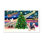 Xmas Magic & Silky Terrier 22x14 Wall Peel